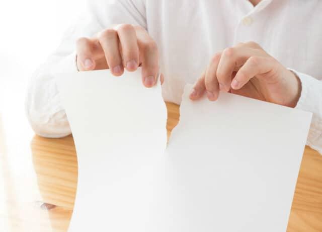 Papier gescheurd